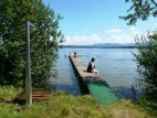 Strandbad am Starnberger See: Eines der vielen kostenpflichtigen Standbäder am Starnberger See.